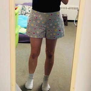 Grey GAP shorts with pink and orange polka dots